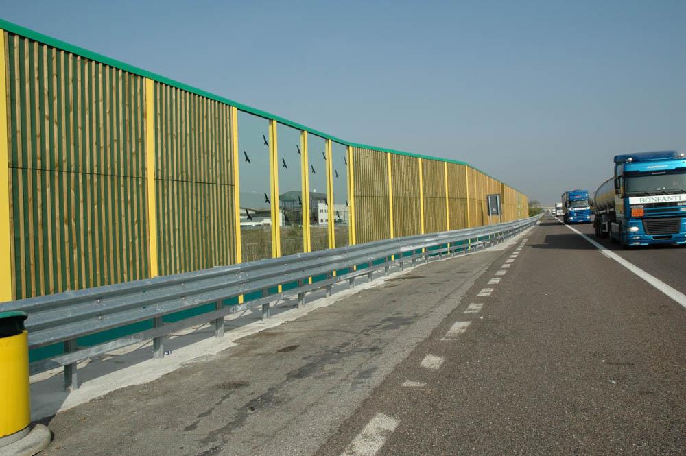 Barriera antirumore in legno Ecowall