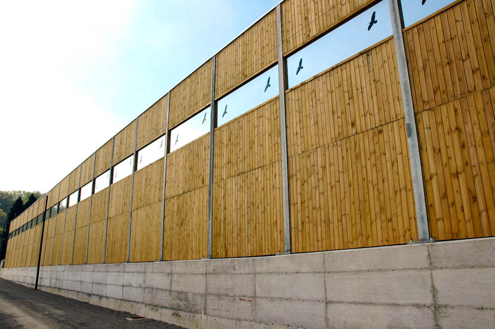 Barriera antirumore in legno Ecowall